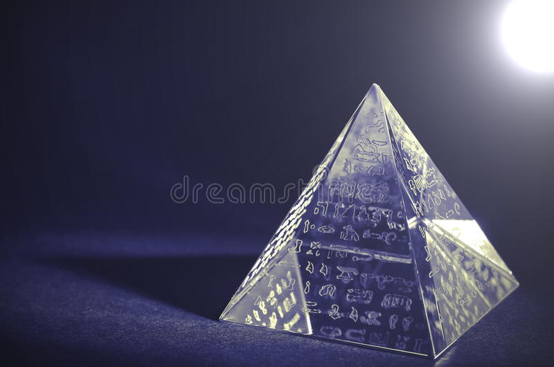 Crystal Pyramid - Lomo effects. Crystal pyramid with Hieroglyphs - Lomo effects. Photo taken on: March 29. 2015 royalty free stock photo