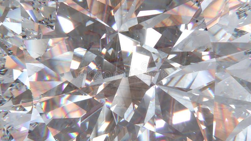 Crystal refraktionbakgrund royaltyfri illustrationer