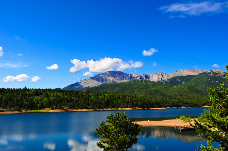 Download Crystal Reservoir stock image. Image of pikes, pier, forest - 24229191