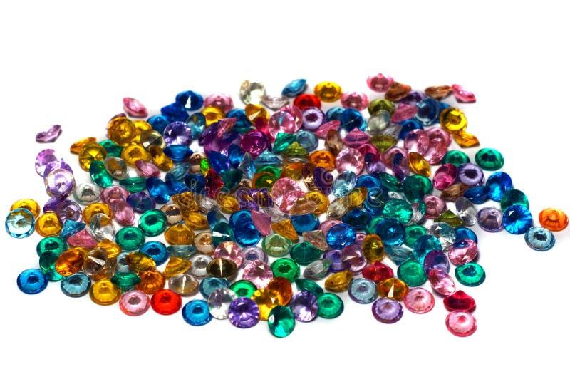 Crystal Rhinestones coloreado imágenes de archivo libres de regalías