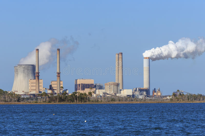 Crystal River Florida Nuclear Power Plant royalty free stock photos
