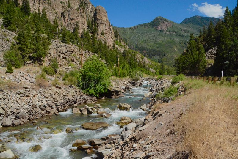 Crystal River near Carbondale, Colorado. Crystal River along Hwy 133 between Carbondale and Redstone in Colorado royalty free stock image
