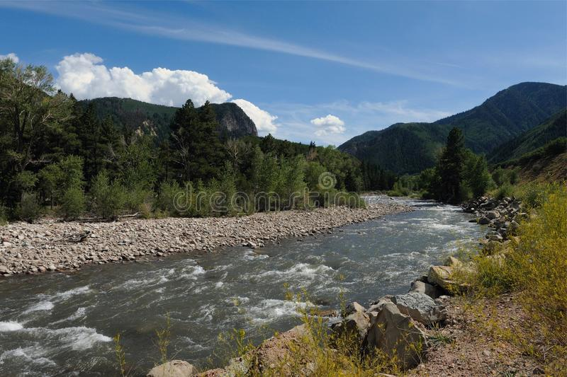 Crystal River Road Trip Scenery rond Aspen Carbondale Crystal en Marmer voor de bestemmingen van Colorado de V.S. stock afbeeldingen