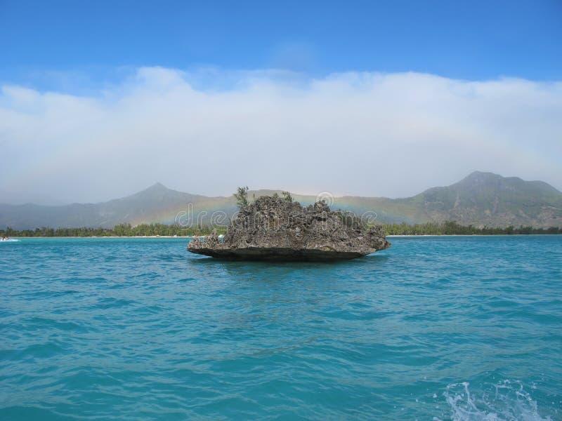 Crystal Rock near Benitiers Island, Mauritius stock photography
