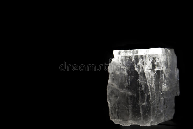 Download Crystal Of Rock Salt On Black Stock Image - Image: 22961681