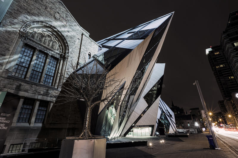 The Crystal of ROM. The famous and amazing Crystal at the ROM royalty free stock photography