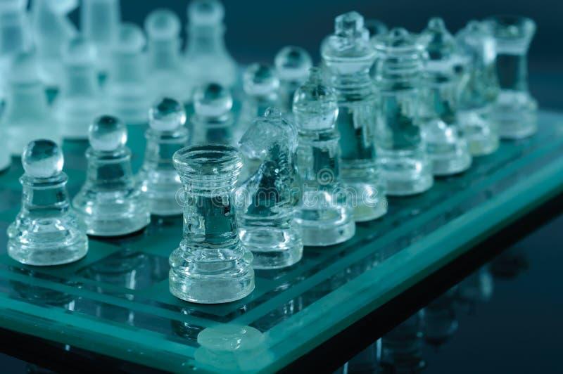 Crystal schack royaltyfri bild