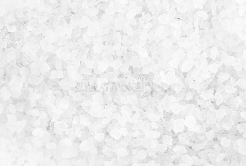 Crystal Sea Salt pode usar-se como o fundo, close up foto de stock royalty free