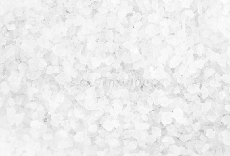 Crystal Sea Salt puede utilizar como fondo, primer foto de archivo libre de regalías