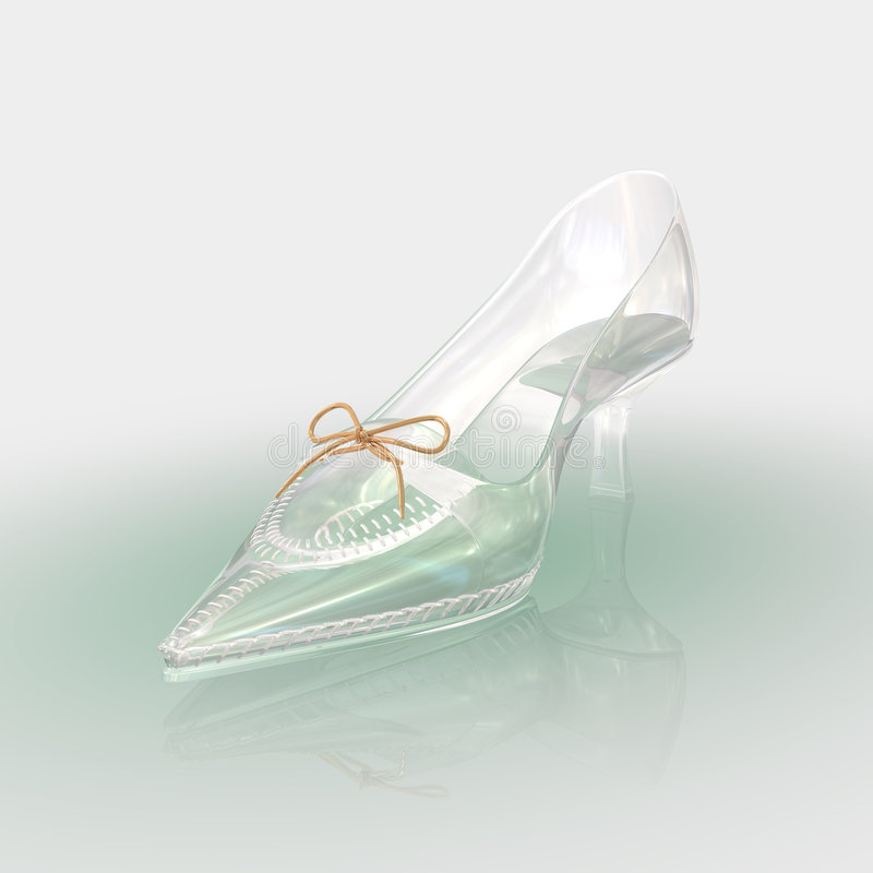 Crystal shoe. It is qualitative picture for your use stock illustration