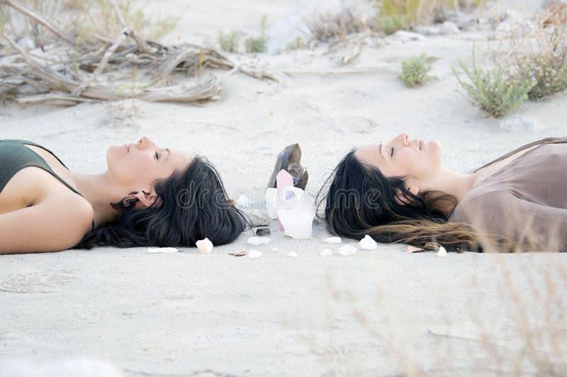 Crystal Sisters Meditation Mandala fotografia stock