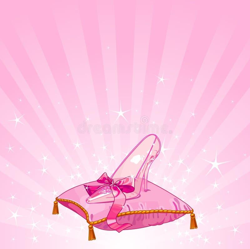 Crystal slipper background royalty free illustration
