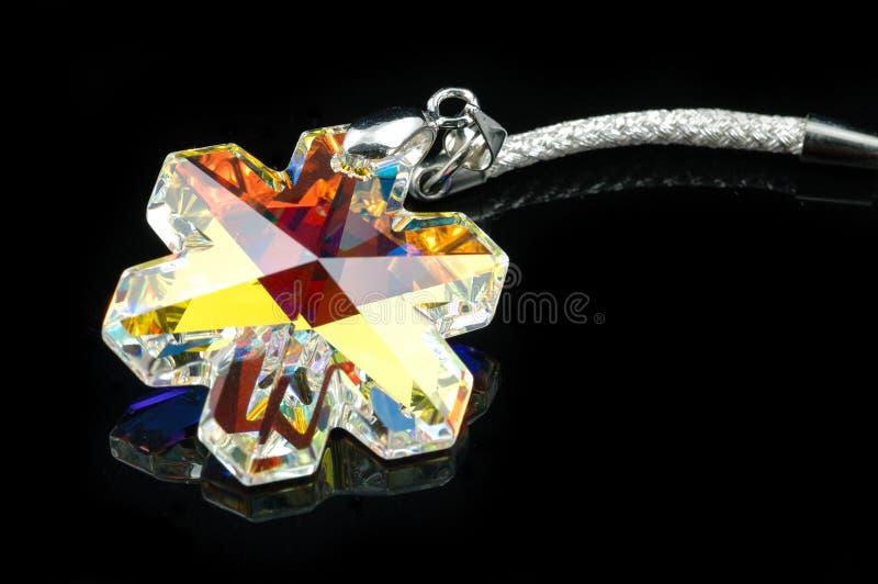 crystal smyckensnowflake arkivfoton