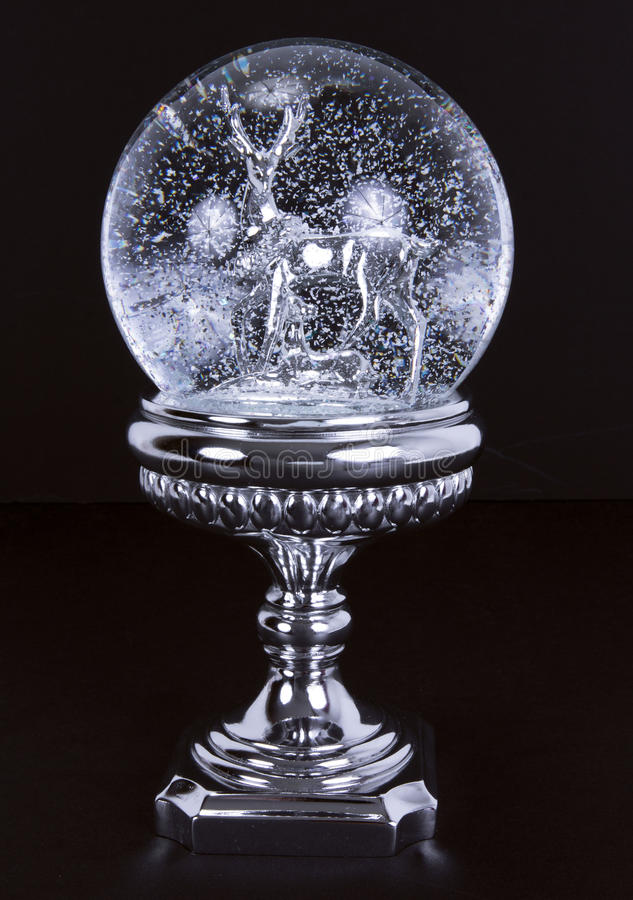 Crystal snow ball stock images