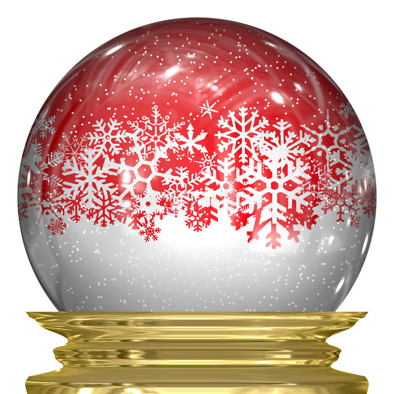 Crystal Snow Globe Royalty Free Stock Images