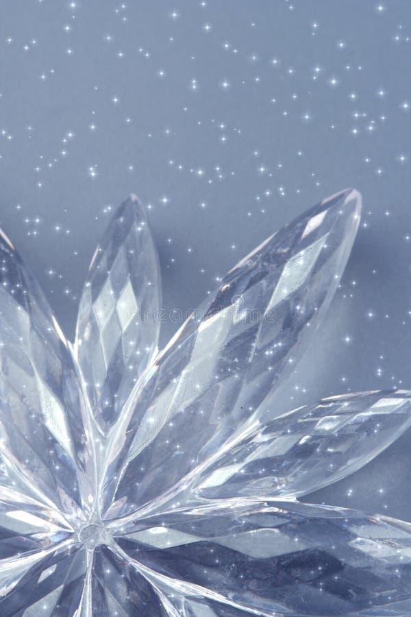 crystal snowflake arkivbilder