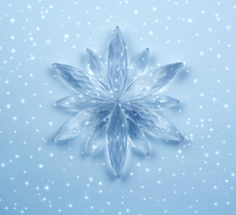 crystal snowflake royaltyfri illustrationer
