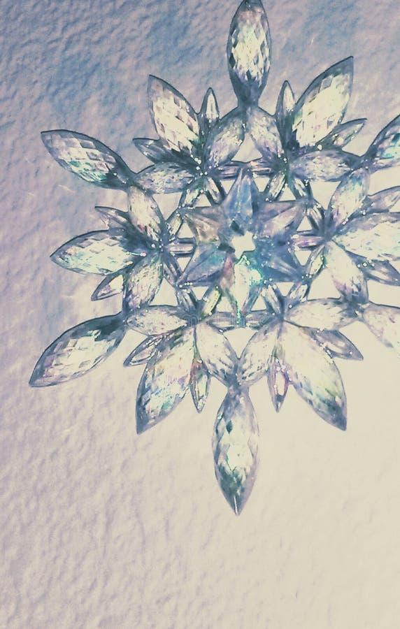 Crystal Snowflake imagenes de archivo
