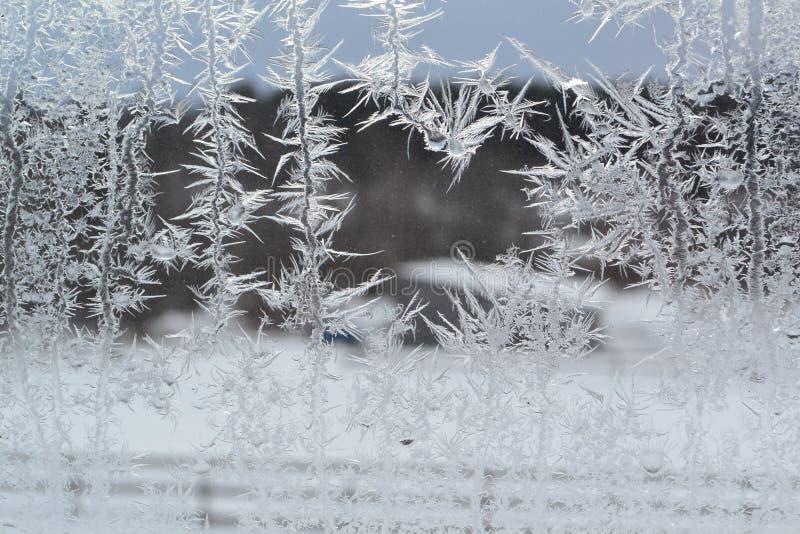 Crystal Snowflakes sur la fenêtre 6 photo libre de droits