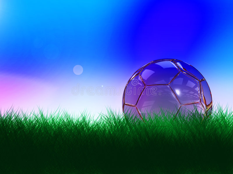 Download Crystal soccer ball stock illustration. Image of sunny - 6091894