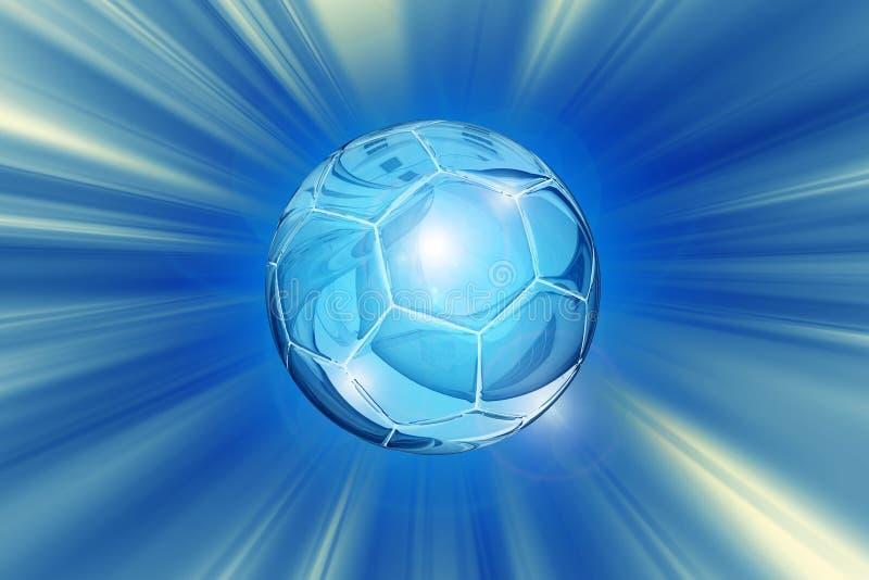 Crystal Soccer Ball Background royalty illustrazione gratis