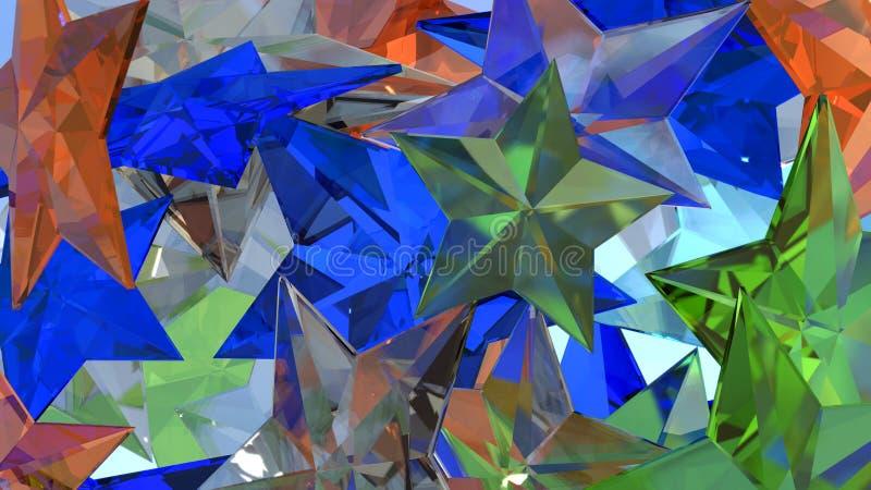 Crystal Stars stock photos
