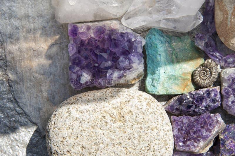 Crystal And Stone Healing Rocks fotografía de archivo