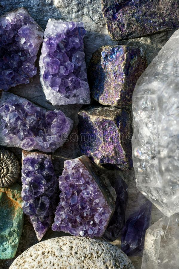 Crystal And Stone Healing Rocks images stock