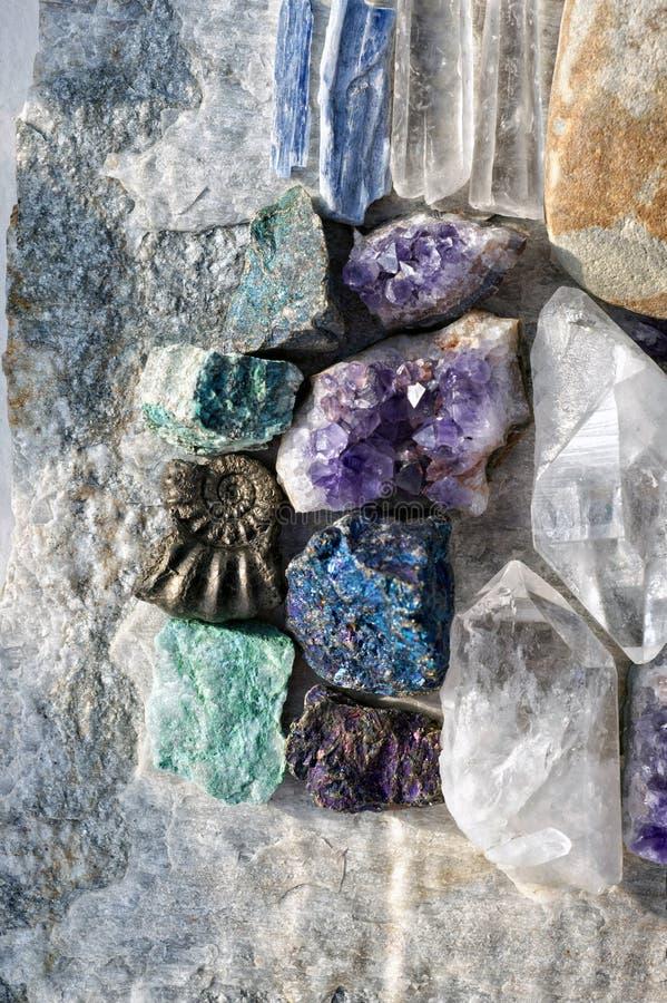 Crystal And Stone Healing Rocks royalty-vrije stock fotografie
