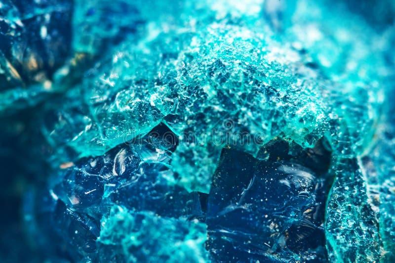 Crystal Stone Mooie natuurlijke turkooise achtergrond Macro ex royalty-vrije stock afbeelding