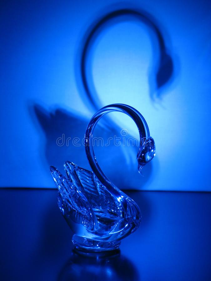 Crystal Swan stockfoto