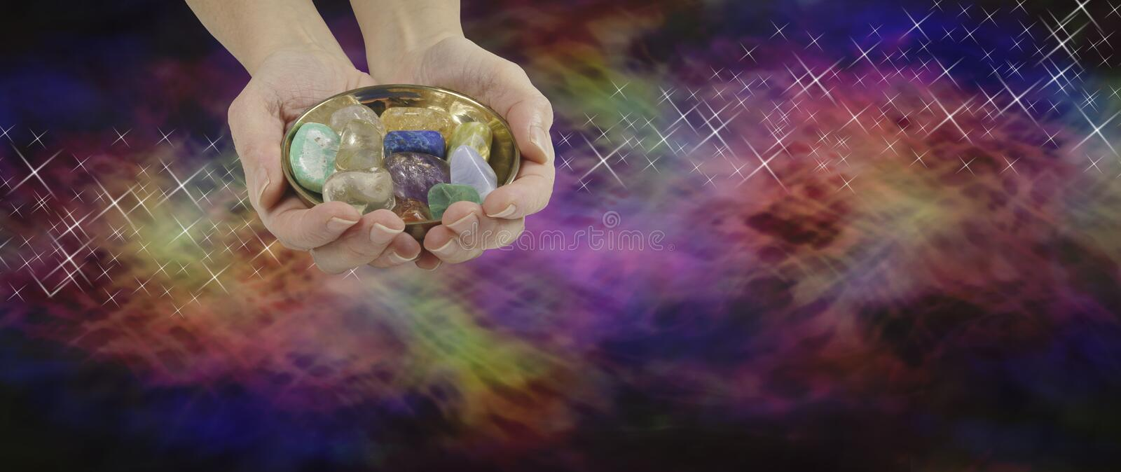 Crystal Therapy Website Banner royalty free illustration
