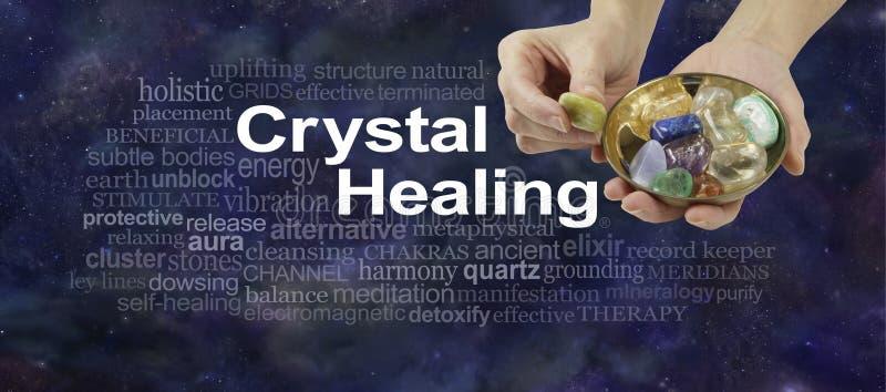 Crystal Therapy-woordwolk royalty-vrije stock afbeeldingen