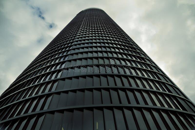 Crystal Tower, gratte-ciel de Madrid, placé dans la zone financière, f photos libres de droits