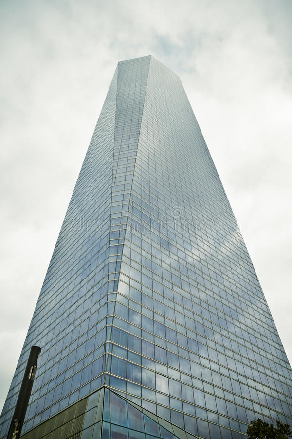 Crystal Tower, gratte-ciel de Madrid, placé dans la zone financière, f photographie stock libre de droits