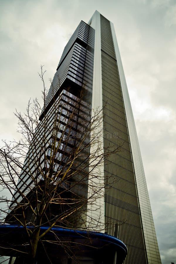 Crystal Tower, gratte-ciel de Madrid, placé dans la zone financière, f photos stock