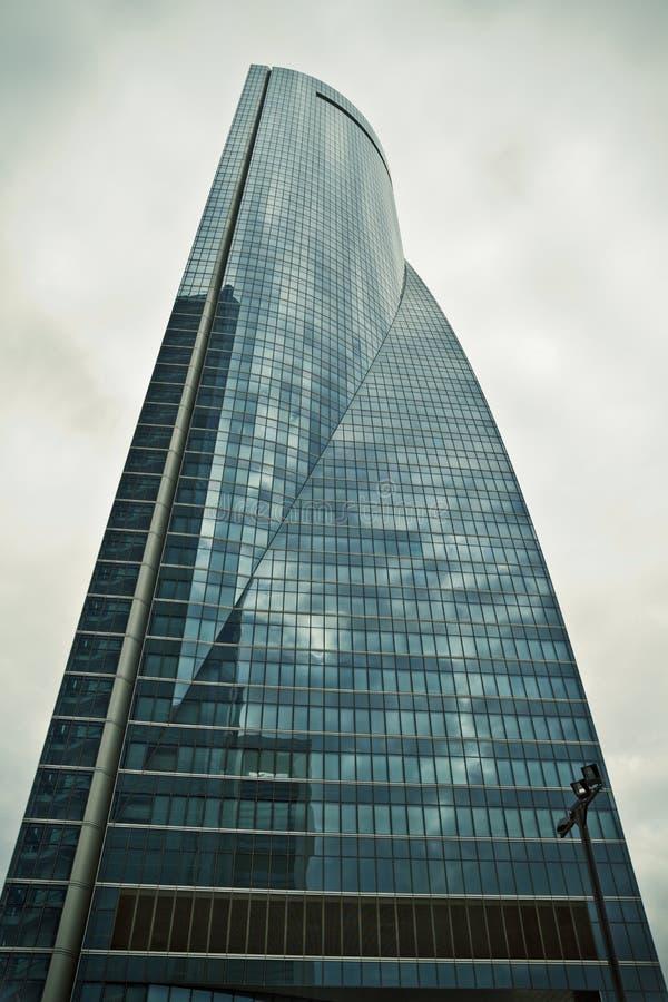 Crystal Tower, gratte-ciel de Madrid, placé dans la zone financière, f photo libre de droits