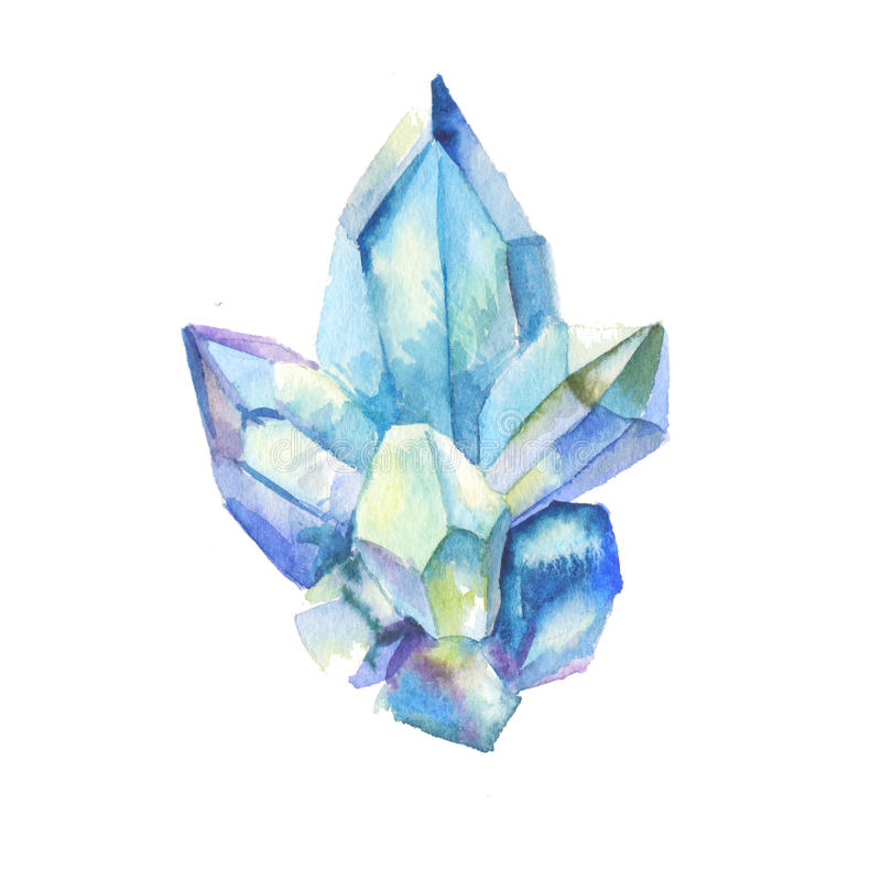 Crystal watercolor royalty free stock photos