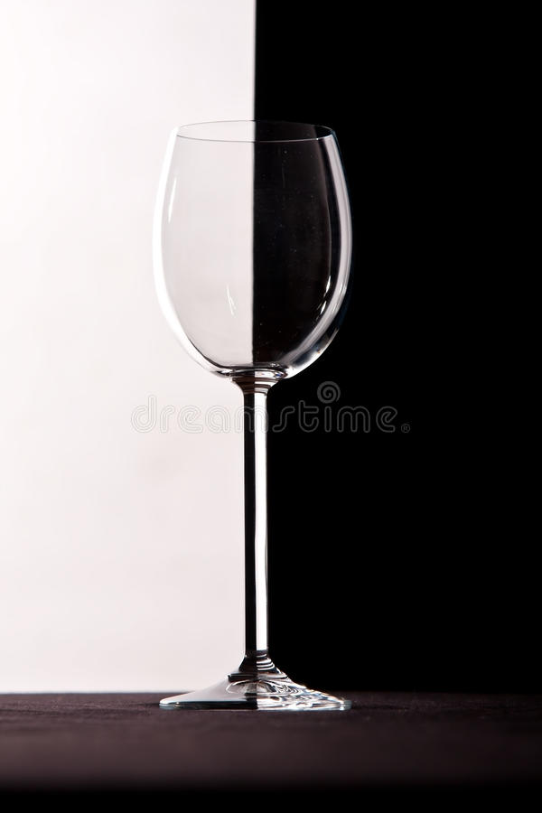 Crystal Wine Glass With Contrast Background Royalty Free Stock Photography
