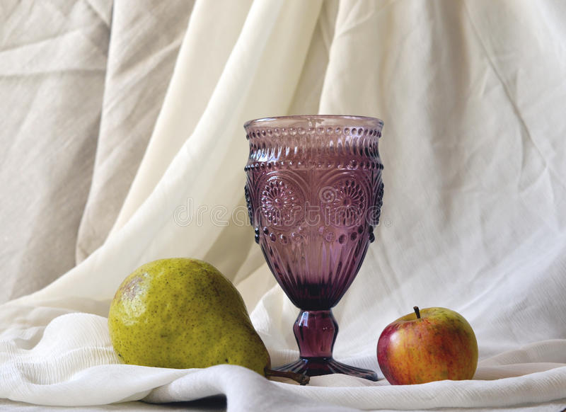 Crystal wine glass royalty free stock photos