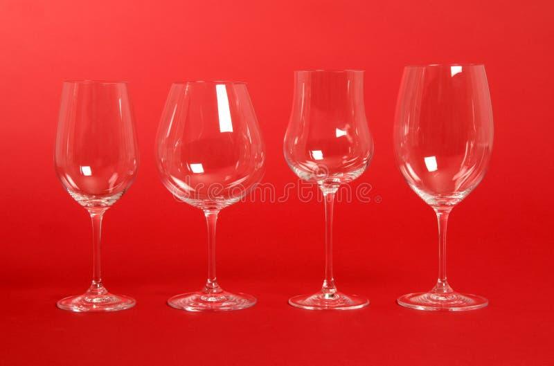 Crystal Wine Glasses stock photos