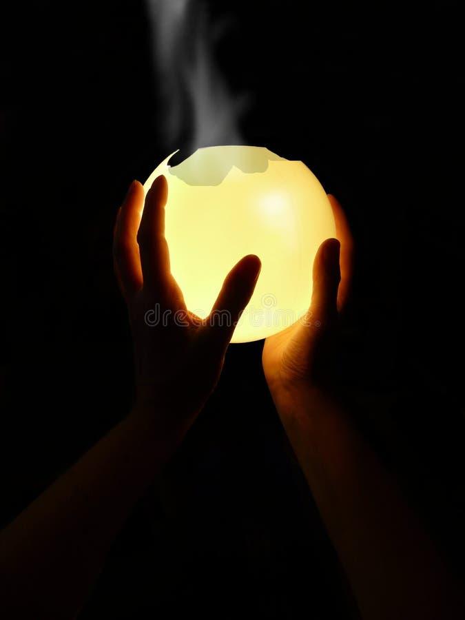Crystalball-humo foto de archivo