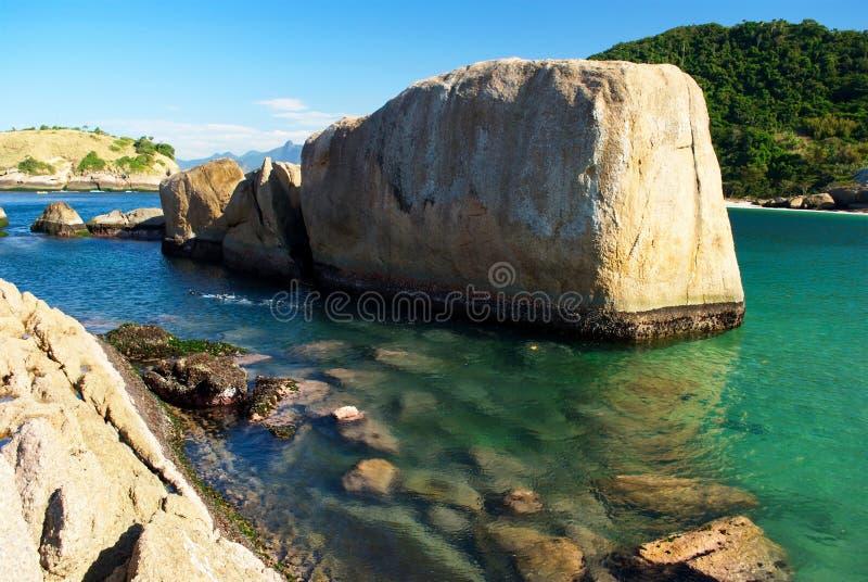 crystalline de janeiro niteroi rio för strand hav arkivfoton
