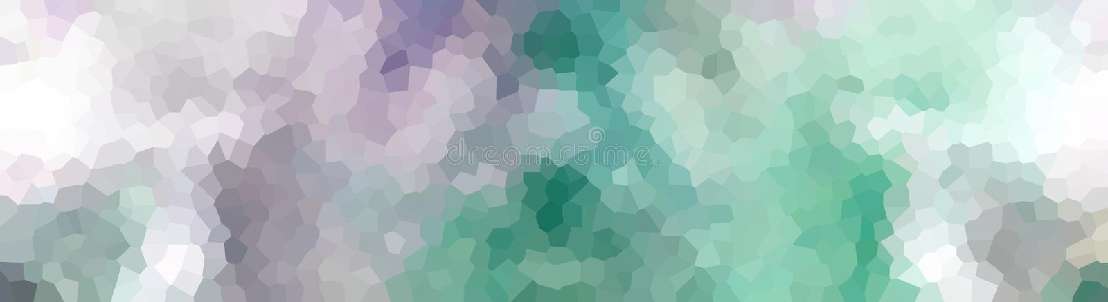 Crystallized Header Banner Purple Turquoise. Purple, Turquoise, and white Crystallized Header Banner vector illustration