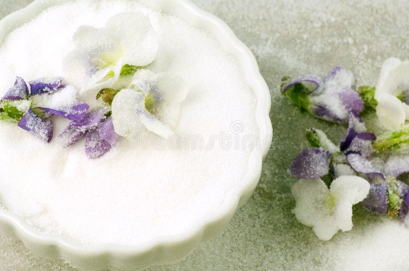 Crystallized Violets royalty free stock photos