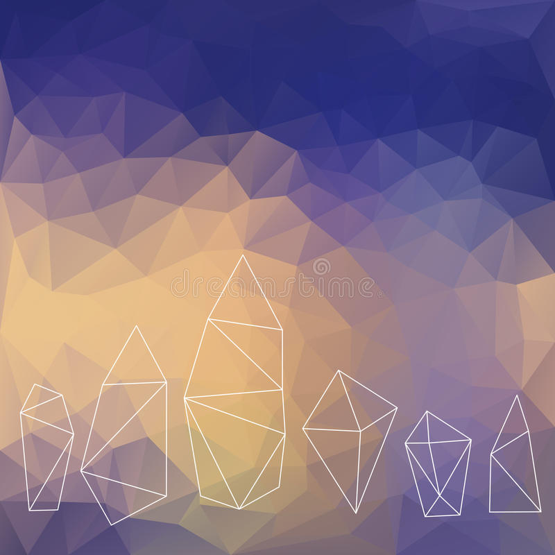 Crystals background stock illustration