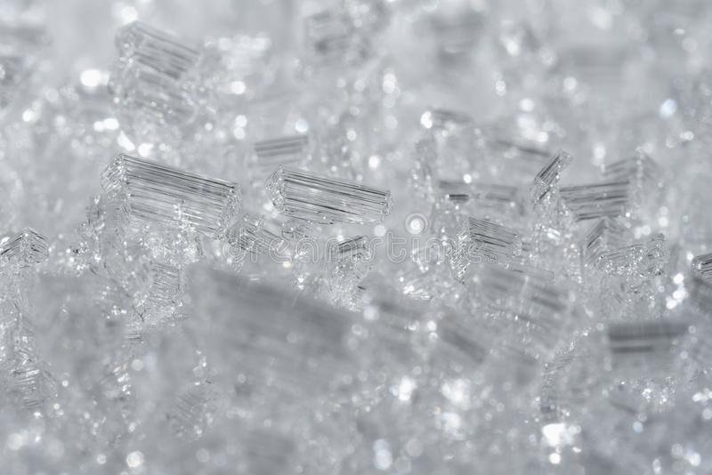 Crystals of ice stock photography