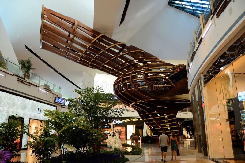 Crystals Las Vegas. Pic of Crystals Shopping Center at City Center Las Vegas royalty free stock photo