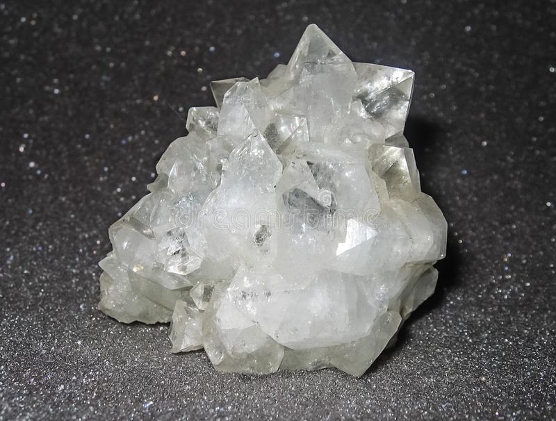 Crystals of minerals of rocks. The of natural stones stock photography