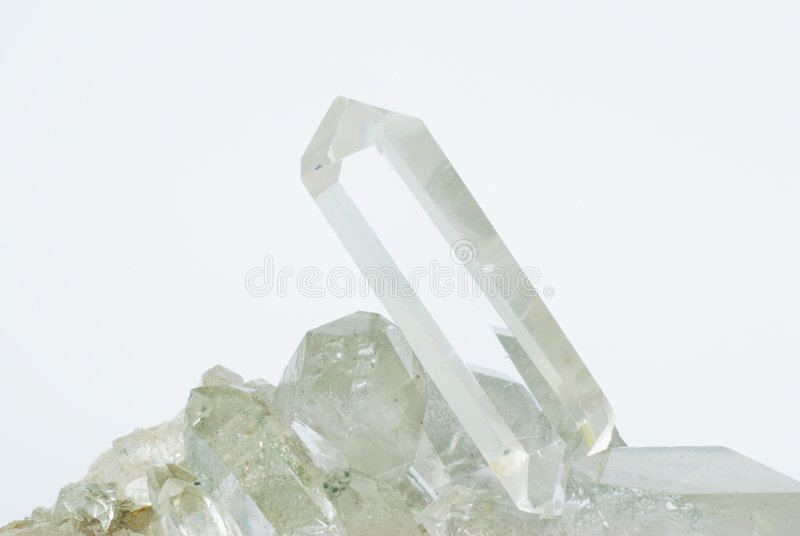 crystals quartz στοκ εικόνα με δικαίωμα ελεύθερης χρήσης